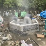 島田市 墓石 ~無縫塔の修理と土台のリフォーム~⑩